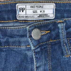 Free People Denim Skinny Cropped Frayed Cuff Jeans